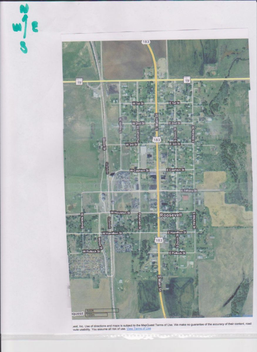 Roosevelt, OK Map