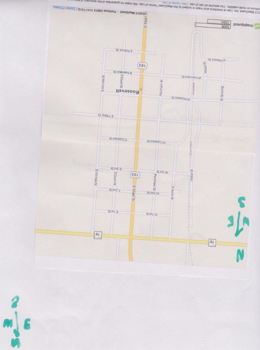 Roosevelt, OK Map 001