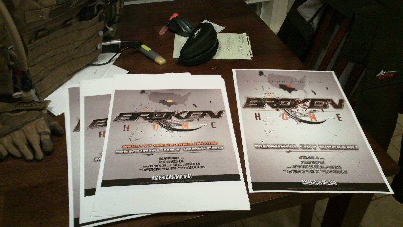 OP: Broken Home Promo Posters