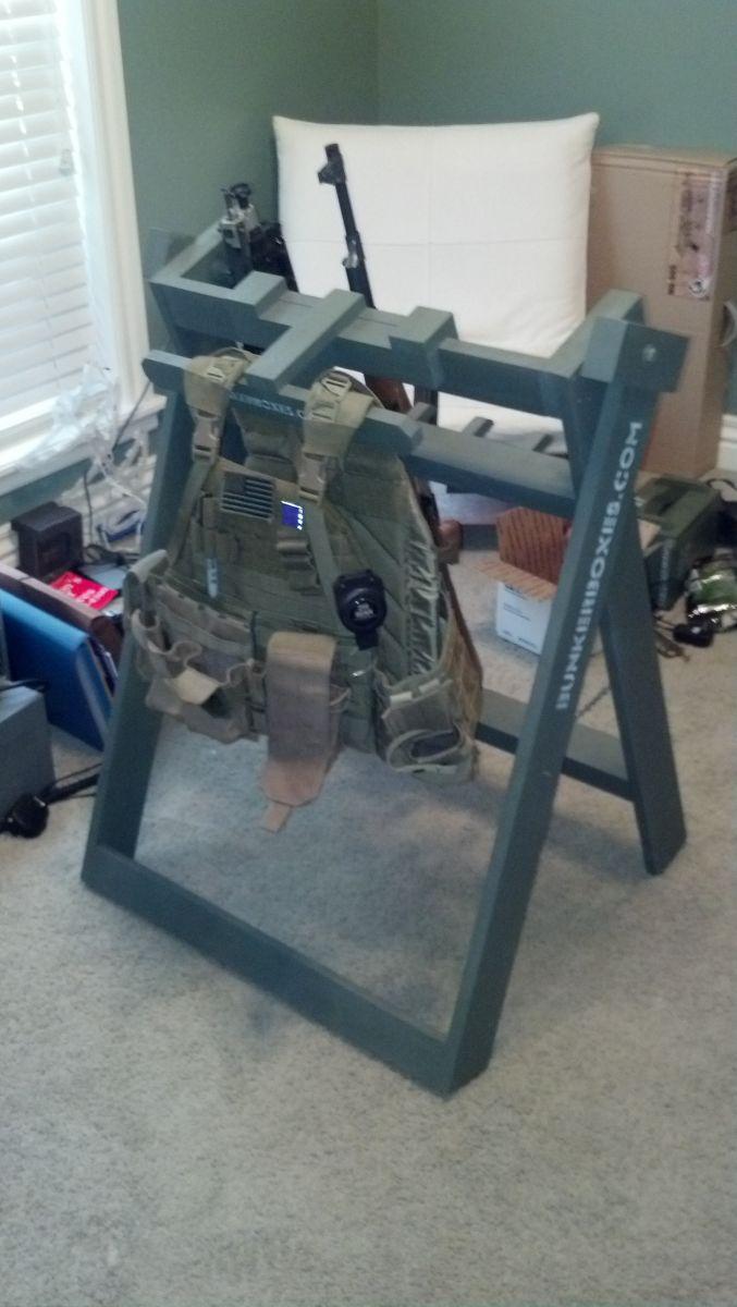 Bunker Box's new style Gun / Gear Rack