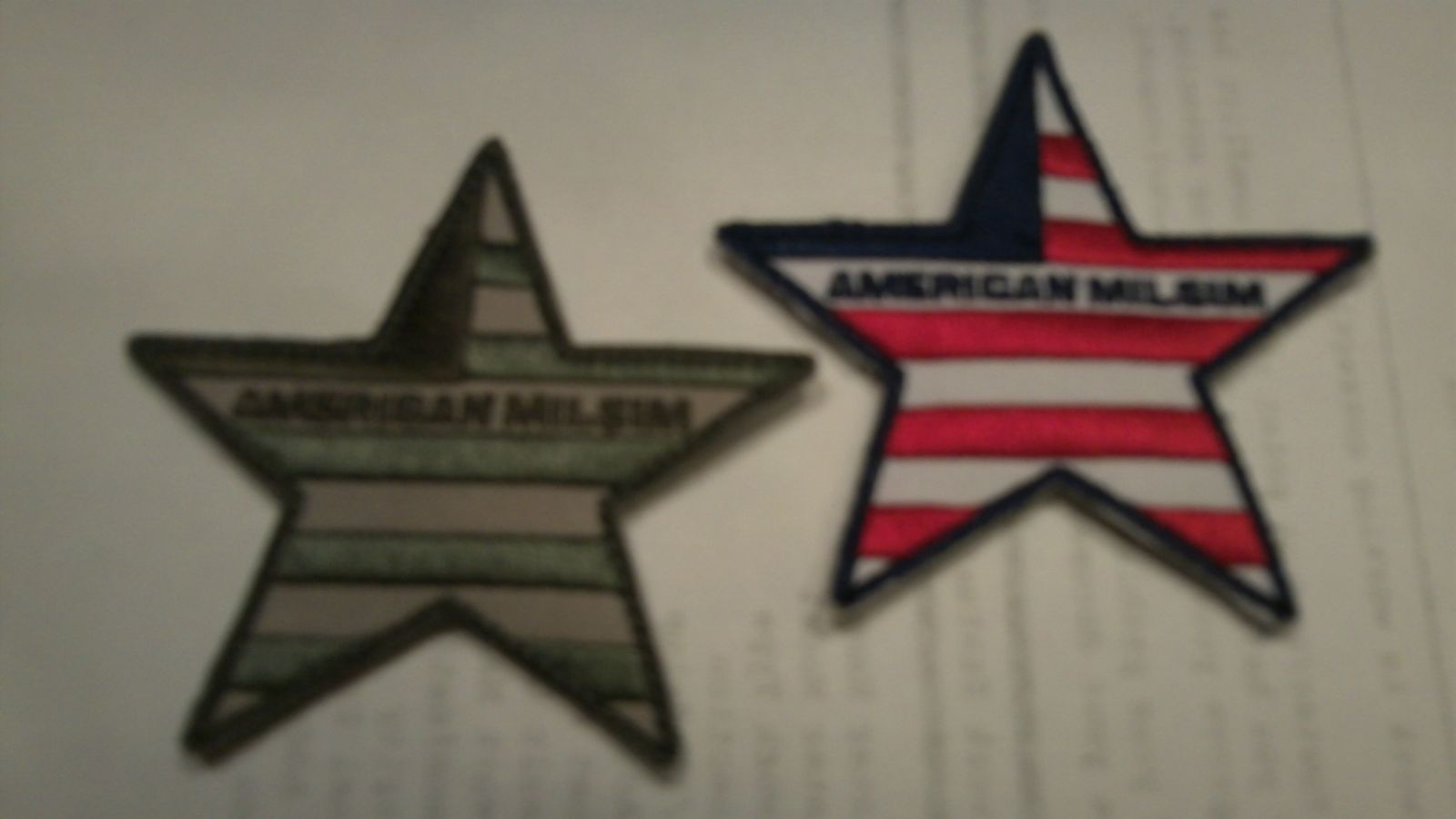 American MilSin 5-Point Patches