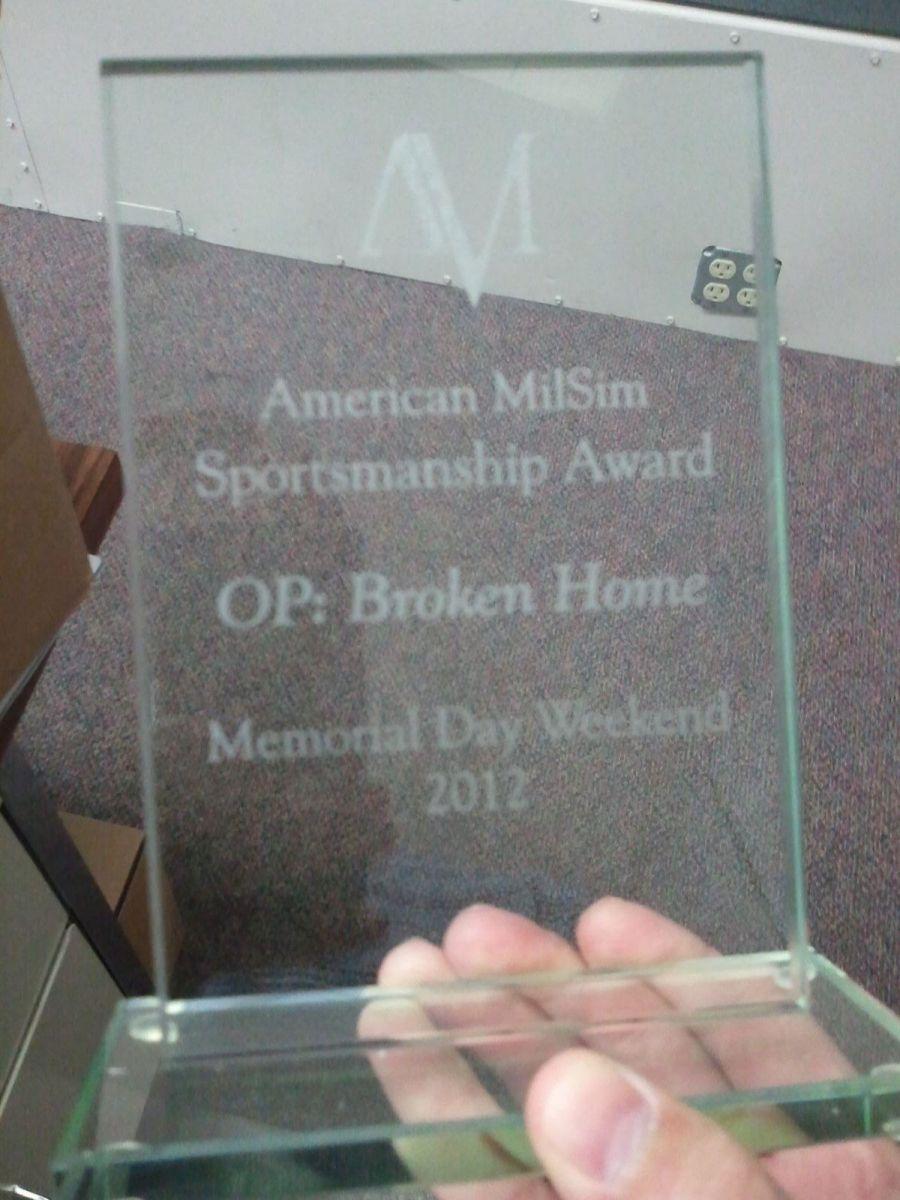 American MilSim Sportsmanship awards for OP: BH