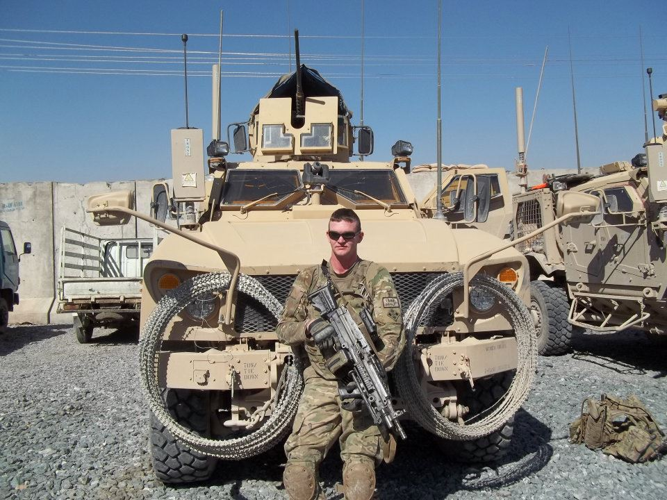 Grim and his MATV in Afghanistan.